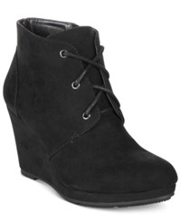 Styleandco. Style Co. Alaisi Lace Up Wedge Booties Only At Macy's Women's Shoes Black
