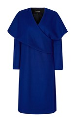 Paper London Hanza Wrap Cape Coat Blue