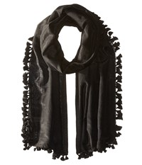 Michael Stars Silky Solid Scarf Black Scarves