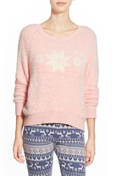 Women's Make Model Crewneck Pullover Pink Veil Rose