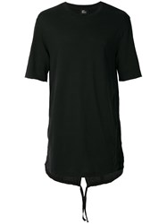 Lost And Found Ria Dunn Drawstring Fitted T Shirt Black