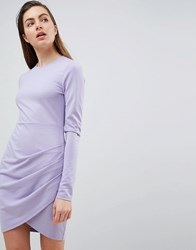 Ivyrevel Long Sleeved Jersey Dress With Wrap Front Purple