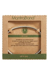 Mantraband Women's Let It Go Engraved Cuff Silver