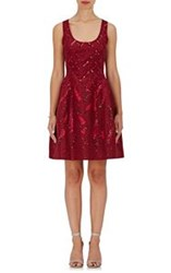 Prabal Gurung Ombre Sequined Dress Red