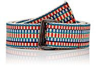 Inis Meain Men's Double Buckle Woven Belt Multi