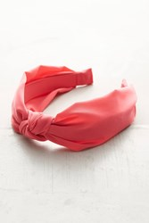 Anthropologie Knotted Chiffon Headband Pink