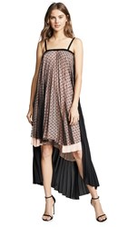 Loyd Ford High Low Dress Nude Black