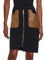 Tracy Reese Zip Front Leatherette Skirt