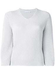 Fabiana Filippi V Neck Jumper Grey
