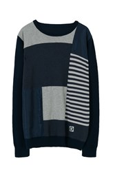 Desigual Tricot Patch Pullover Blue