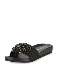 Donald J Pliner Trena 2 Jeweled Slide Sandal Black