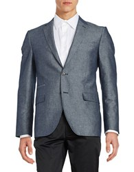 Black Brown Chambray Sportcoat Muted Indigo