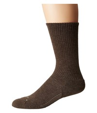 Feetures Casual Rib Cushion Crew Sock Taupe Crew Cut Socks Shoes