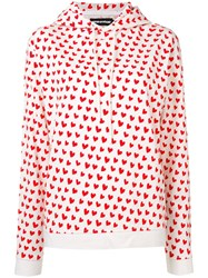 House Of Holland X The Woolmark Company Heart Print Hoodie Red