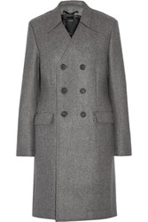 Joseph Double Breasted Boiled Wool Coat Gray