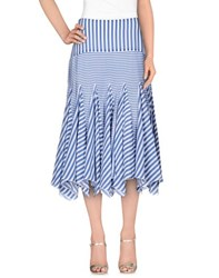 Richard Nicoll Skirts 3 4 Length Skirts Women Pastel Blue