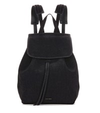 Mansur Gavriel Suede Backpack Black