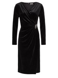 Jacques Vert Velvet Cocktail Dress Black