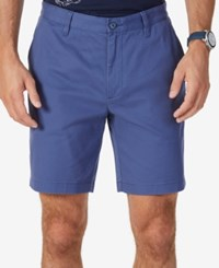 Nautica Men's Stretch Classic Fit Deck Shorts Blue Indigo