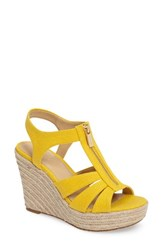 Michael Michael Kors Women's Berkley Platform Wedge Sunflower Canvas