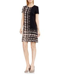 Vince Camuto Textural Track Shift Dress Rosey Flush