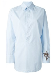 Barena Embroidered Shirt Blue
