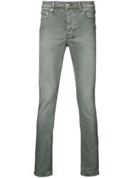Ksubi Stonewashed Skinny Jeans Men Cotton 36 Grey
