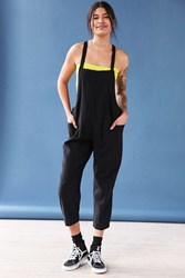 Silence And Noise Oversized Cropped Overall Black