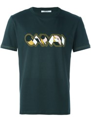 Carven Logo Print T Shirt Green