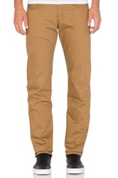 Naked And Famous Weird Guy 12Oz Coffee Dyed Selvedge Denim Tan