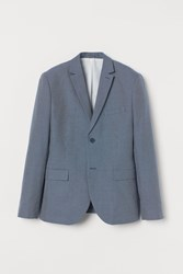 Handm H M Slim Fit Cotton Blazer Blue