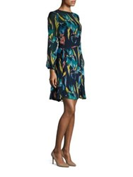 Lk Bennett Floaty Silk Dress Navy