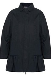 Red Valentino Fluted Cotton Jacket Black