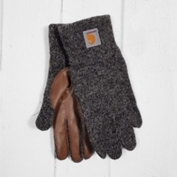 Carhartt Logg Gloves Dark Grey Heather At Denim Geek