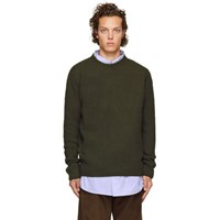 Wooyoungmi Khaki Wool And Cashmere Sweater