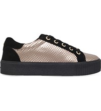 Carvela Lindon Trainers Gold Comb
