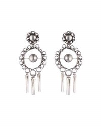 Dannijo Ash Statement Earrings Silver