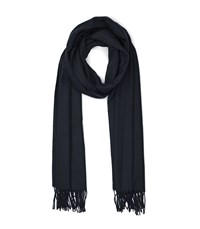 Reiss Ashby Tasselled Scarf In Navy