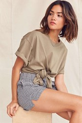 Urban Renewal Recycled Tie Front Tee Olive