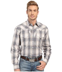 Stetson Stormy Plaid Long Sleeve Snap Front Shirt Grey Men's Clothing Gray