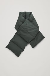 Cos Padded Scarf Green
