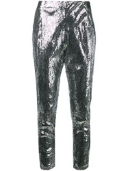 Laneus Sequin Embellished Trousers Silver