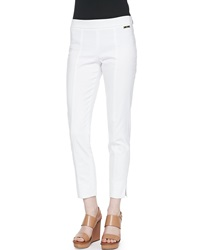 Tory Burch Callie Skinny Ankle Pants White