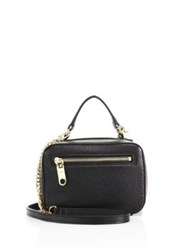 Milly Astor Mini Leather Satchel Black
