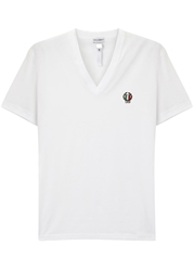 Dolce And Gabbana White Stretch Cotton T Shirt