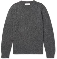 Officine Generale Melange Wool And Cashmere Blend Sweater Gray