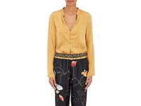 Giada Forte Women's Charmeuse Blouse Yellow
