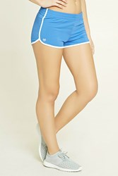 Forever 21 Active Dolphin Shorts Blue White