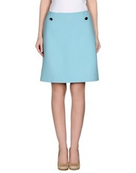 Tara Jarmon Knee Length Skirts Sky Blue