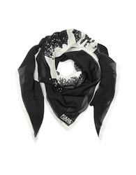 Karl Lagerfeld Modal And Silk Sprayhead Wrap Black